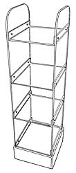 Four Shelf Newspaper Rack.         Categ  12-102